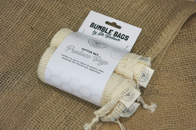 Cotton Net Bumble Bag, 4 Pack
