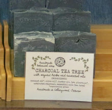 Load image into Gallery viewer, Charcoal Tea Tree Botanical Body Soap Bar