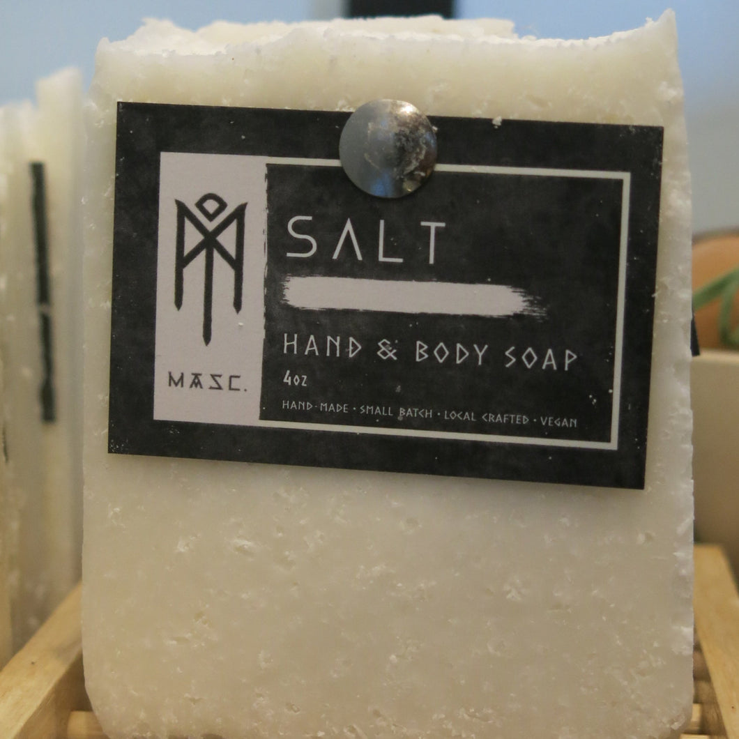Men's Hand and Body Soap Bar - Salt