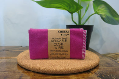 Cloth Wipes 10 Pack, Jewel Tones