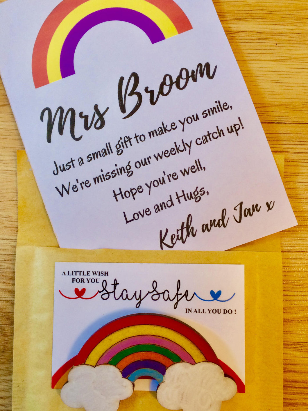 Rainbow Magnet Gift with Personalised Card