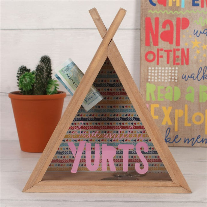 Save Until it Yurts - Unique Teepee Money Box