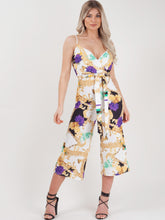Load image into Gallery viewer, Floral Print Mid Leg Jumpsuit
