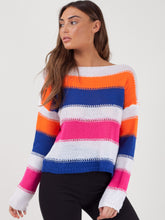 Load image into Gallery viewer, Striped Long Sleeve Shabby-Chic Jumper