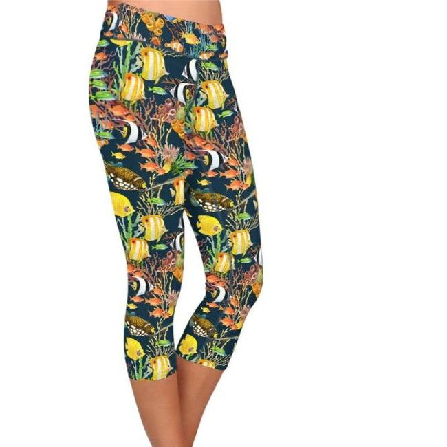 Animal Under Sea World Print Leggings workoutleggings