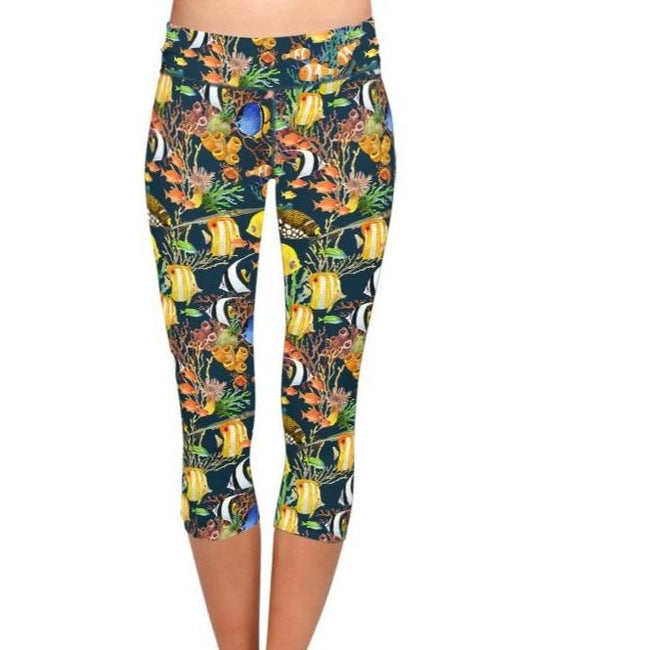 Animal Under Sea World Print Leggings workoutleggings Multi Xtra Xtra Large