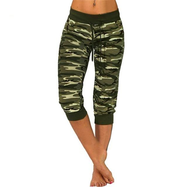 Camo Push Up Sports Pants workoutleggings Green Medium CHINA