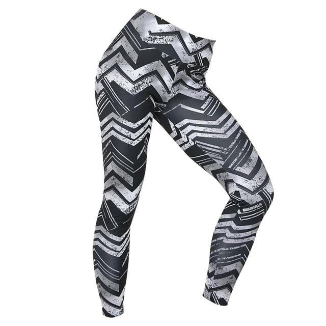 Graphic 3D Printed Yoga Pants workoutleggings Gray Medium CHINA