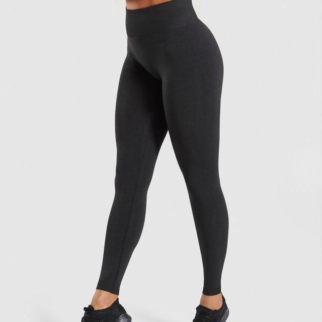 High Waist Energy Seamless Leggings workoutleggings Black Small