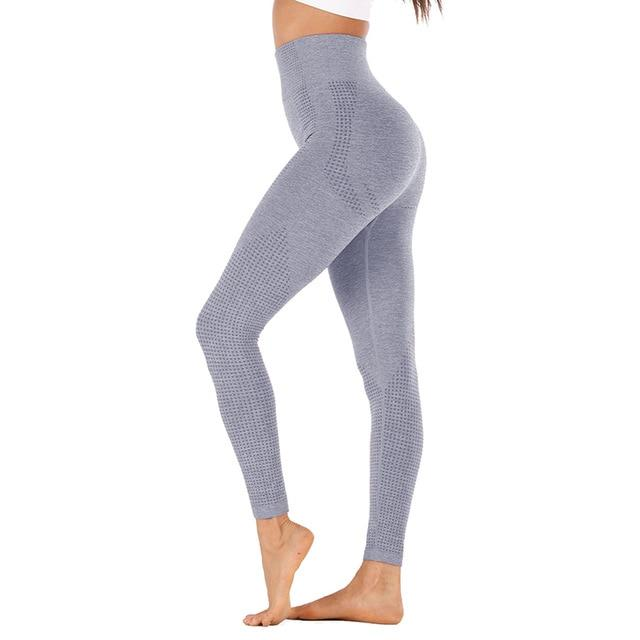 High Waist Stretch Sport Leggings workoutleggings navy style2 Large