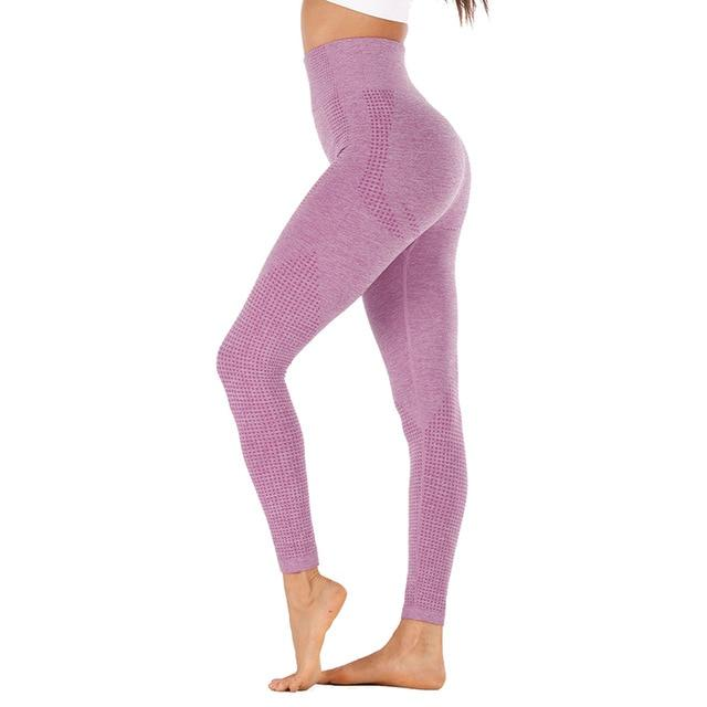 High Waist Stretch Sport Leggings workoutleggings wine red style2 Large