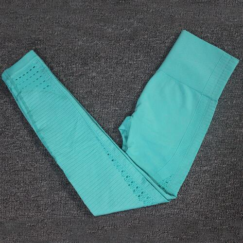 Hollow-Out Seamless Sports Leggings workoutleggings leggings A Green Large