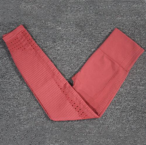 Hollow-Out Seamless Sports Leggings workoutleggings leggings A Red Small