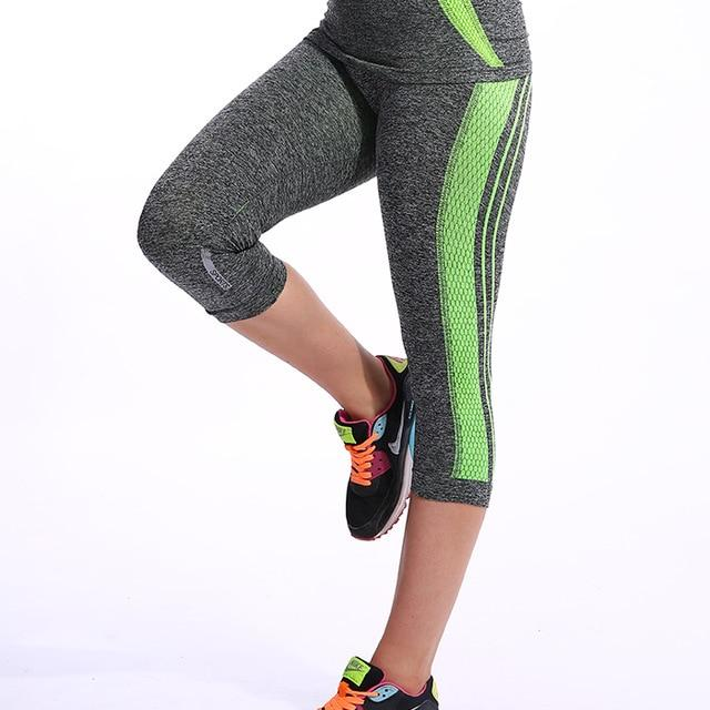 Quarter Length Yoga Pants workoutleggings Green New Large