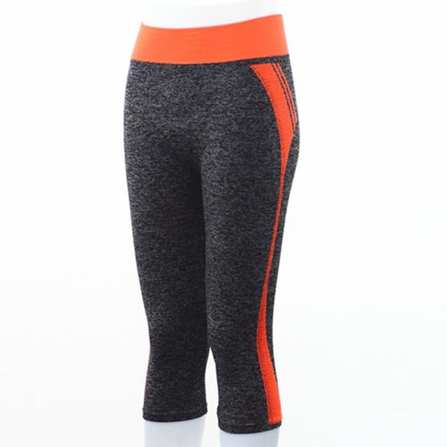 Quarter Length Yoga Pants workoutleggings Orange Small