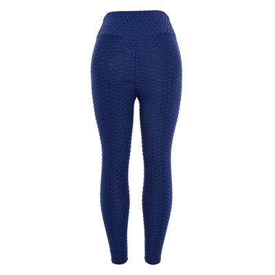 Sexy Scrunch Butt High Waist Yoga Pants workoutleggings Navy blue Large