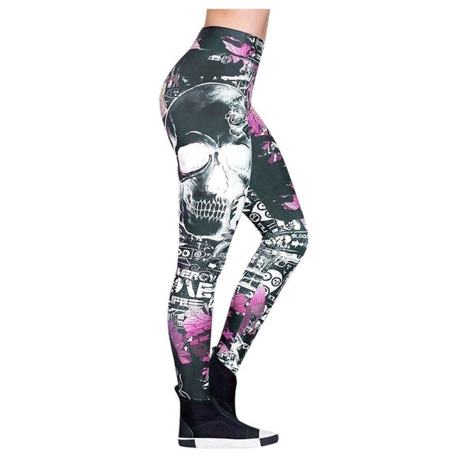 Skeleton Skull Pattern Leggings workoutleggings