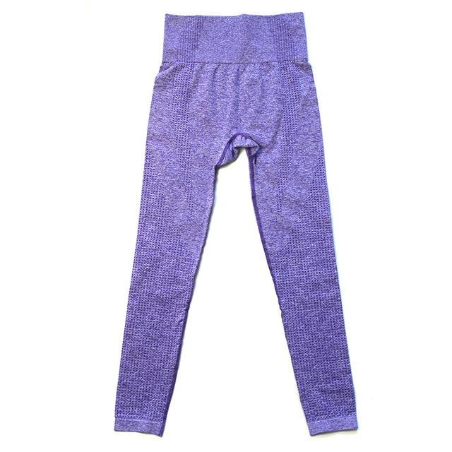 Women 3D Shape Seamless Leggings workoutleggings G5081Purple Large