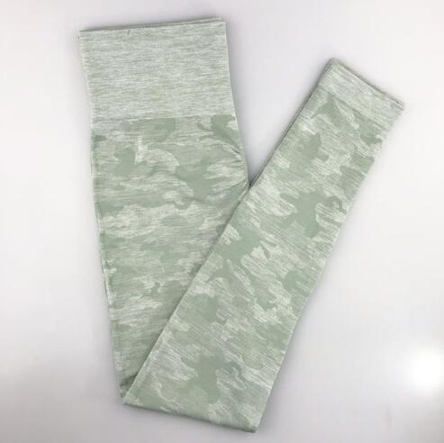Women Camouflage Sports Pants workoutleggings Green Large