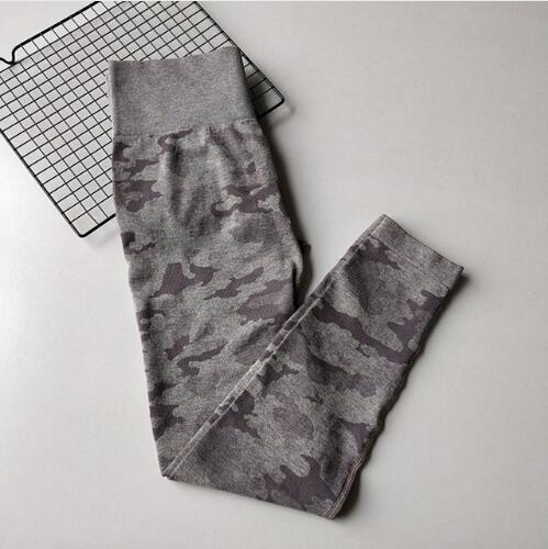 Women Camouflage Sports Pants workoutleggings Purple Large