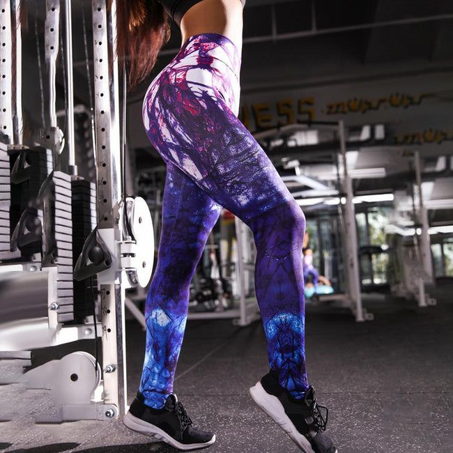 Women Colourful Printed Fitness Yoga Pants workoutleggings