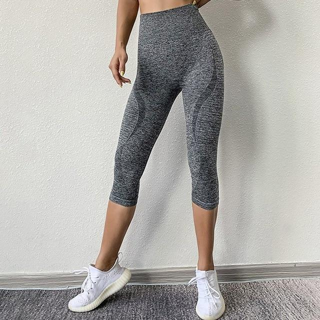 Women Fitness Workout Sport Leggings workoutleggings Grey Large/Xtra Large