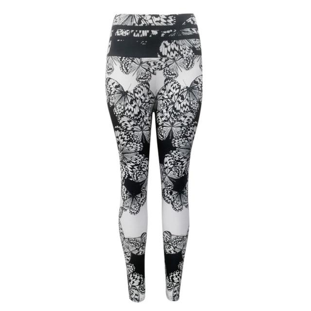 Women Floral Print Outdoor Pants workoutleggings Black Medium CHINA