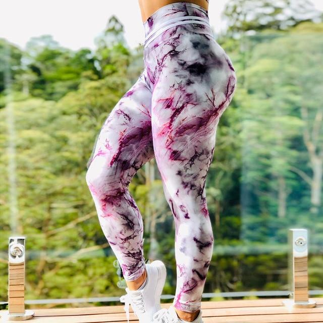 Women Floral Push Up Sports Leggings workoutleggings 7 3XL