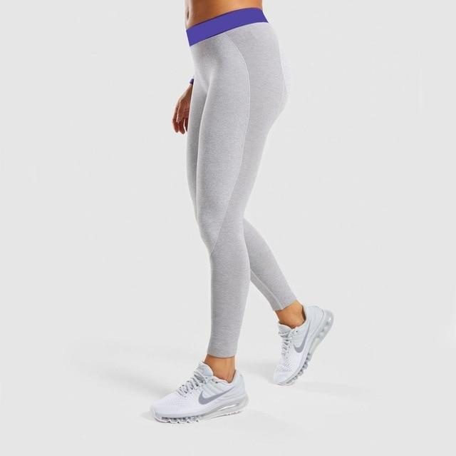 Women High-Elasticity Yoga Leggings workoutleggings Light Gray legging Medium
