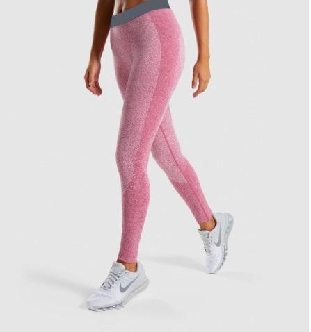 Women High-Elasticity Yoga Leggings workoutleggings Pink legging Medium