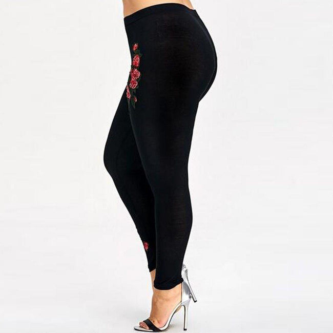 Women High Waist Appliques Leggings workoutleggings