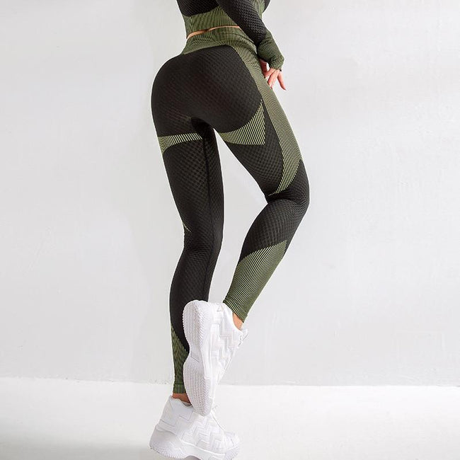 Women High Waist Seamless Yoga Leggings workoutleggings