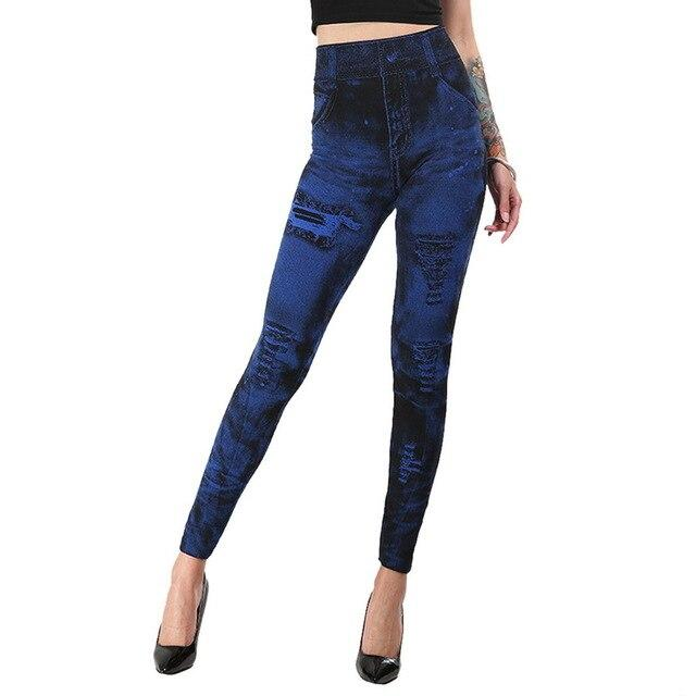 Women Imitation Jeans Yoga Pant workoutleggings 07 A Xtra Large