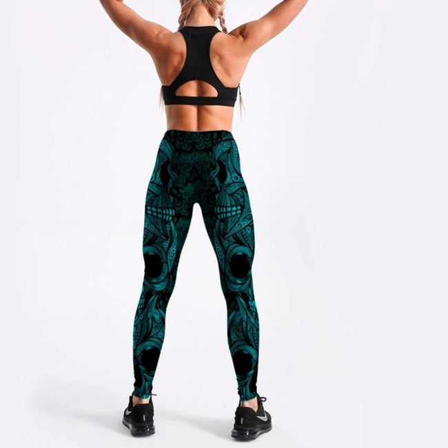 Women Lake Blue Evil Leggings workoutleggings