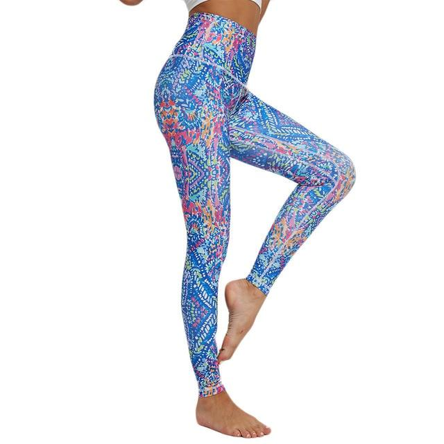 Women Printed Yoga Pants workoutleggings 1 Xtra Large CHINA