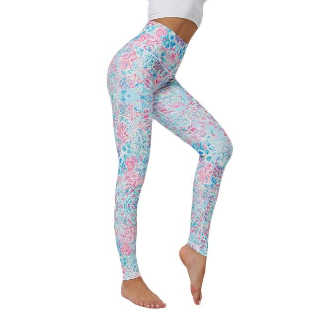 Women Printed Yoga Pants workoutleggings 2 Xtra Large CHINA