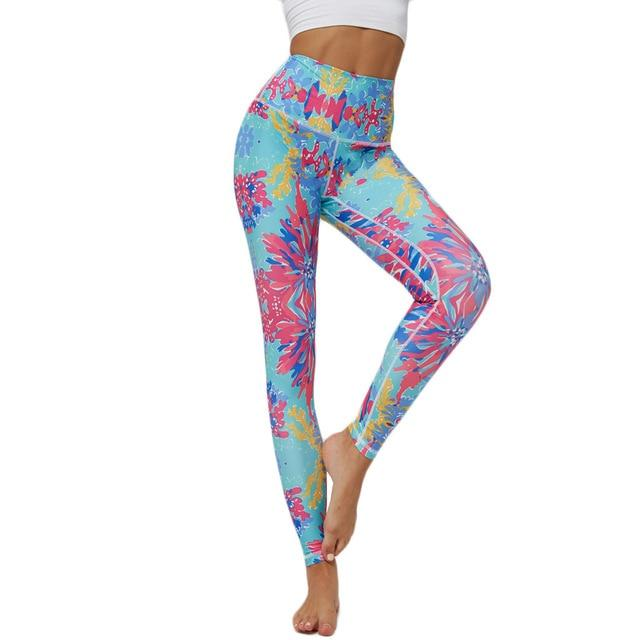 Women Printed Yoga Pants workoutleggings 6 Xtra Large CHINA