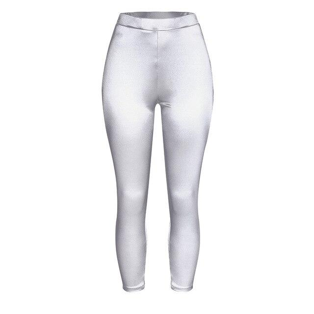 Women Push Up Leggings workoutleggings Silver Xtra Large CHINA