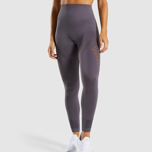 Women Seamless Hip Push Up Leggings workoutleggings slate lavender Large
