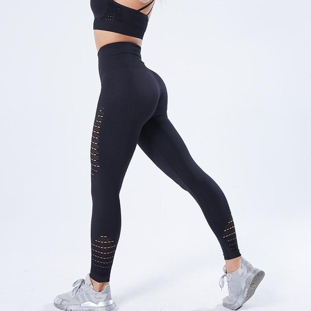 Women Stretchy Fitness Leggings workoutleggings Black Large