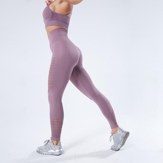Women Stretchy Fitness Leggings workoutleggings Purple Large