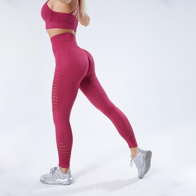 Women Stretchy Fitness Leggings workoutleggings Wine Red Large