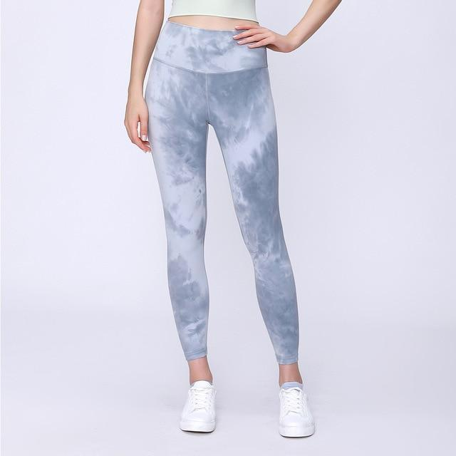 Women Tie Dye Buttery-Soft Yoga Leggings workoutleggings Tie Dye Ash Small
