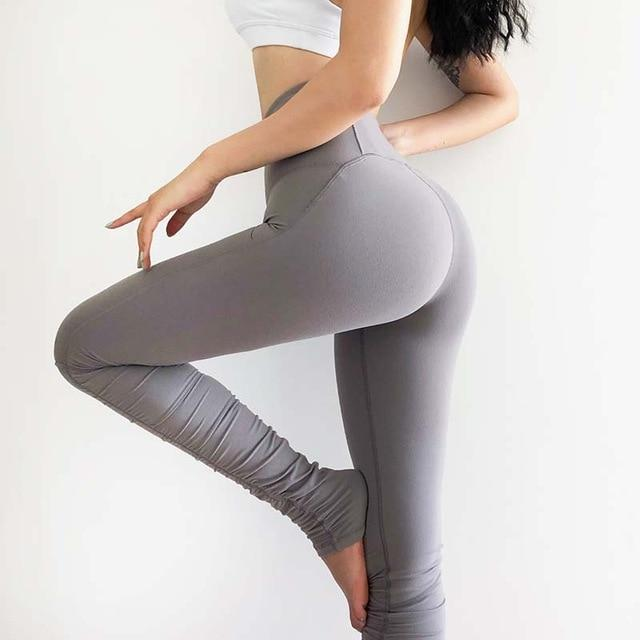 Women Workout Fitness Leggings workoutleggings Gray Small