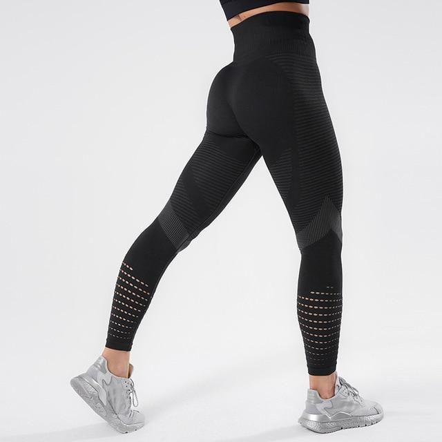 Women Workout Mesh Breathable Pants workoutleggings Black2 Medium CHINA
