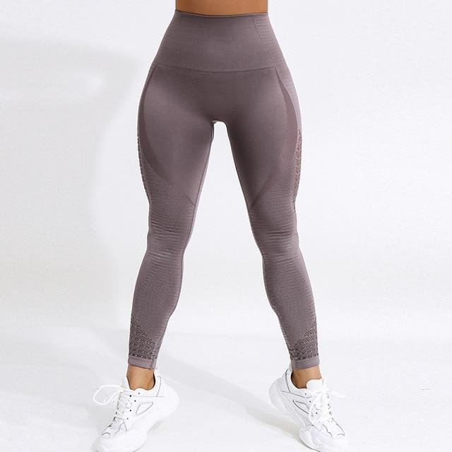 Women Workout Mesh Breathable Pants workoutleggings Deep Purple1 Small CHINA