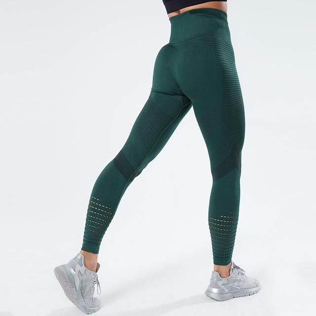 Women Workout Mesh Breathable Pants workoutleggings Green2 Medium CHINA