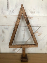 Load image into Gallery viewer, Hand Crafted Wood Primitive Christmas Tree