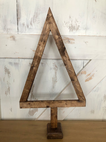 Hand Crafted Wood Primitive Christmas Tree