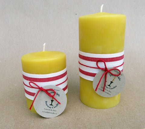 "Smooth Pillar Candle - 2.5"" wide x 3"" tall"